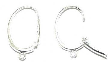 8 x Silver Plated Earrings - C Shape Clip Closure - 22mm SF.09 - WA212 - P4856